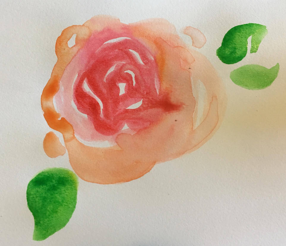Watercolor rose by AnnoyingDoge7