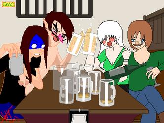 Drunk Buddies (Updated) by Kitsune-Kami-Shin
