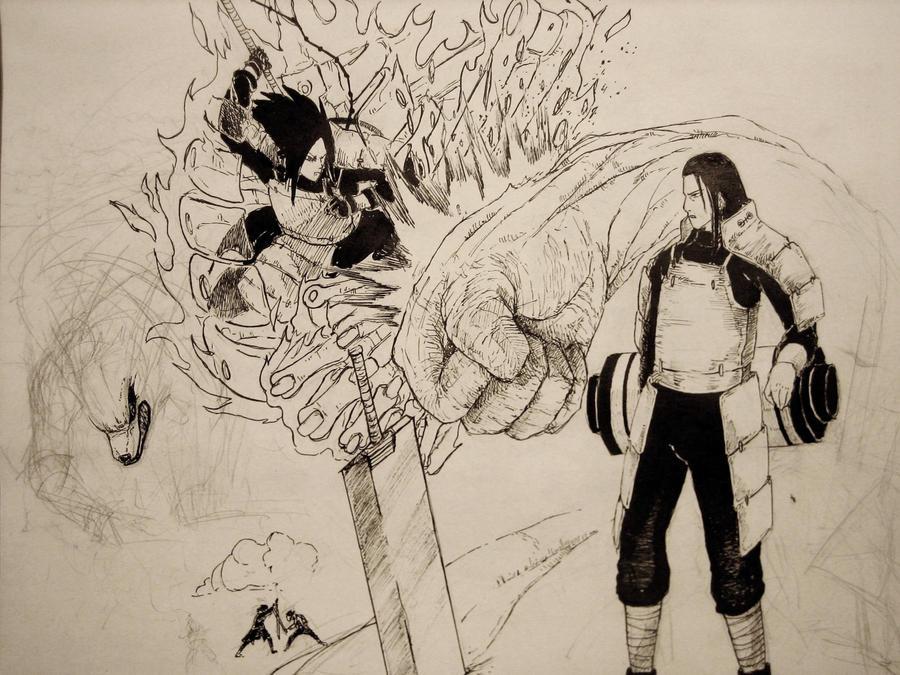 Madara vs Hashirama [WIP 02] by minhquach94