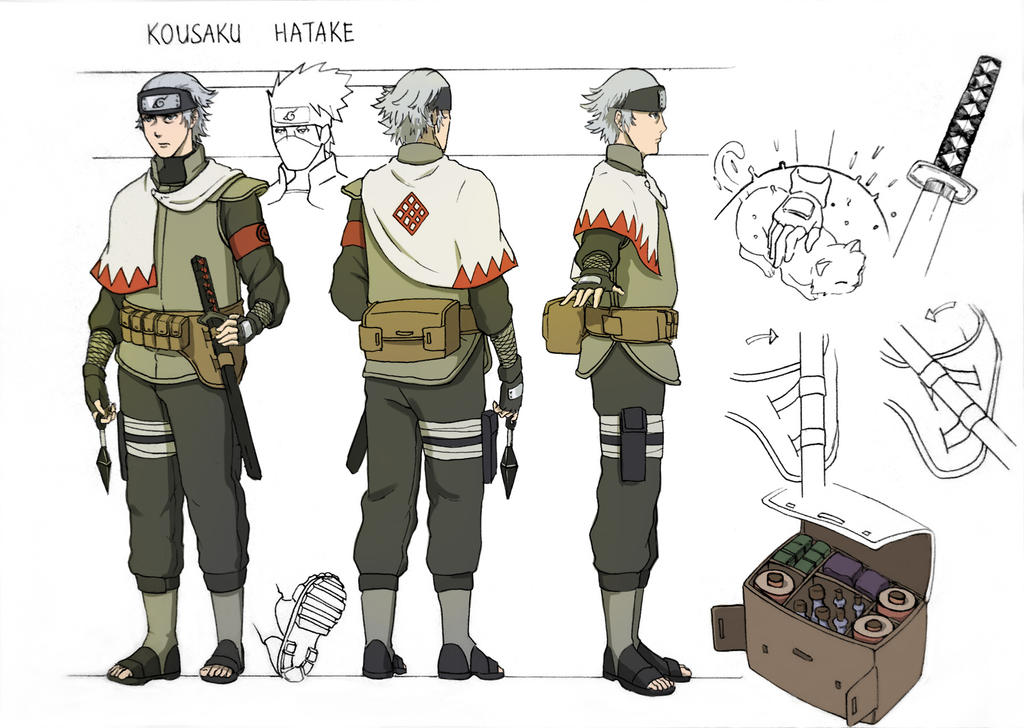 Kousaku Hatake Character Sheet Colored By Minhquach94 On Deviantart