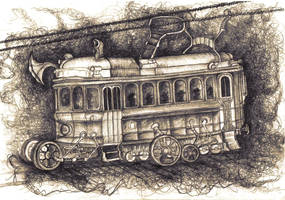 The way home tram by CarnivalNevermore