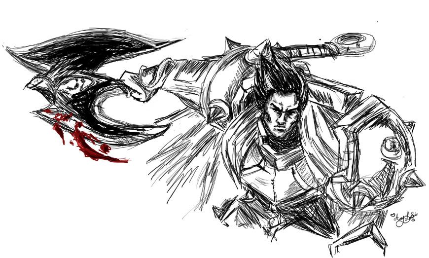 Darius sketch by Momorii
