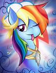 Smug as Rainbow Dash