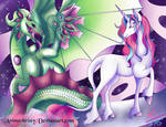 Unicorns and Dragons by Animechristy