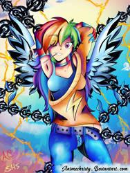 Sporty Edge Rainbow Dash by Animechristy