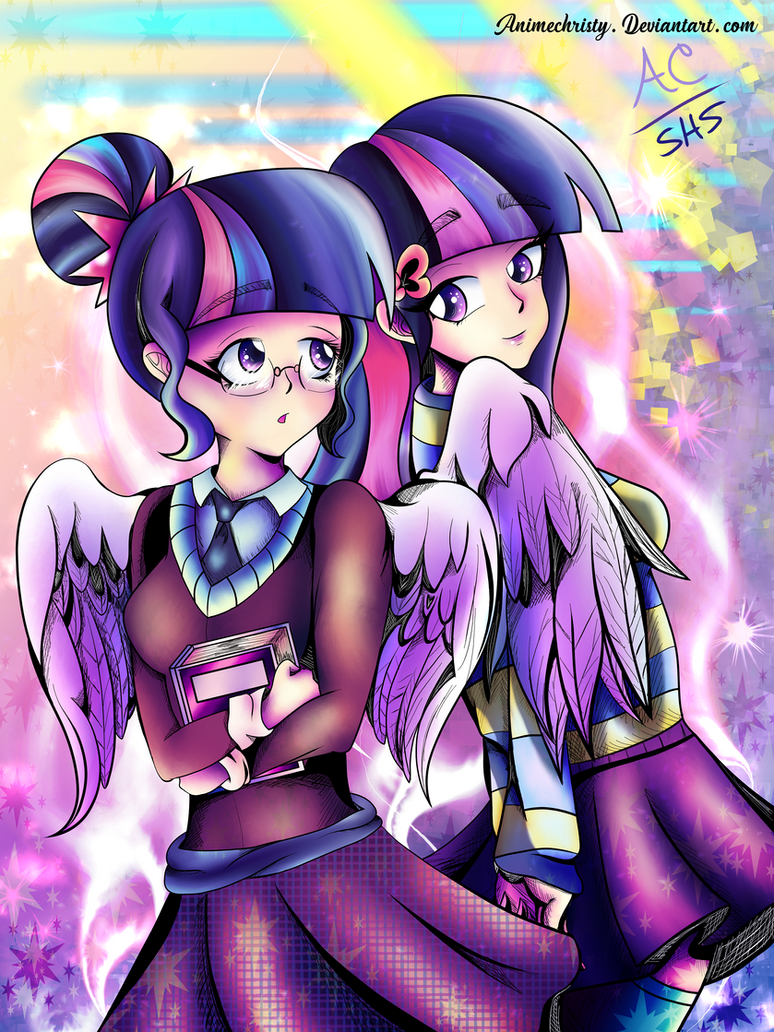 Shy Bookworm Sci and Twi by Animechristy