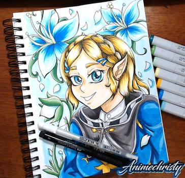 Short hair Zelda (Breath of the Wild)