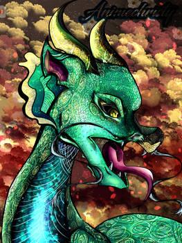 Malachite Dragon (Miniature Series)