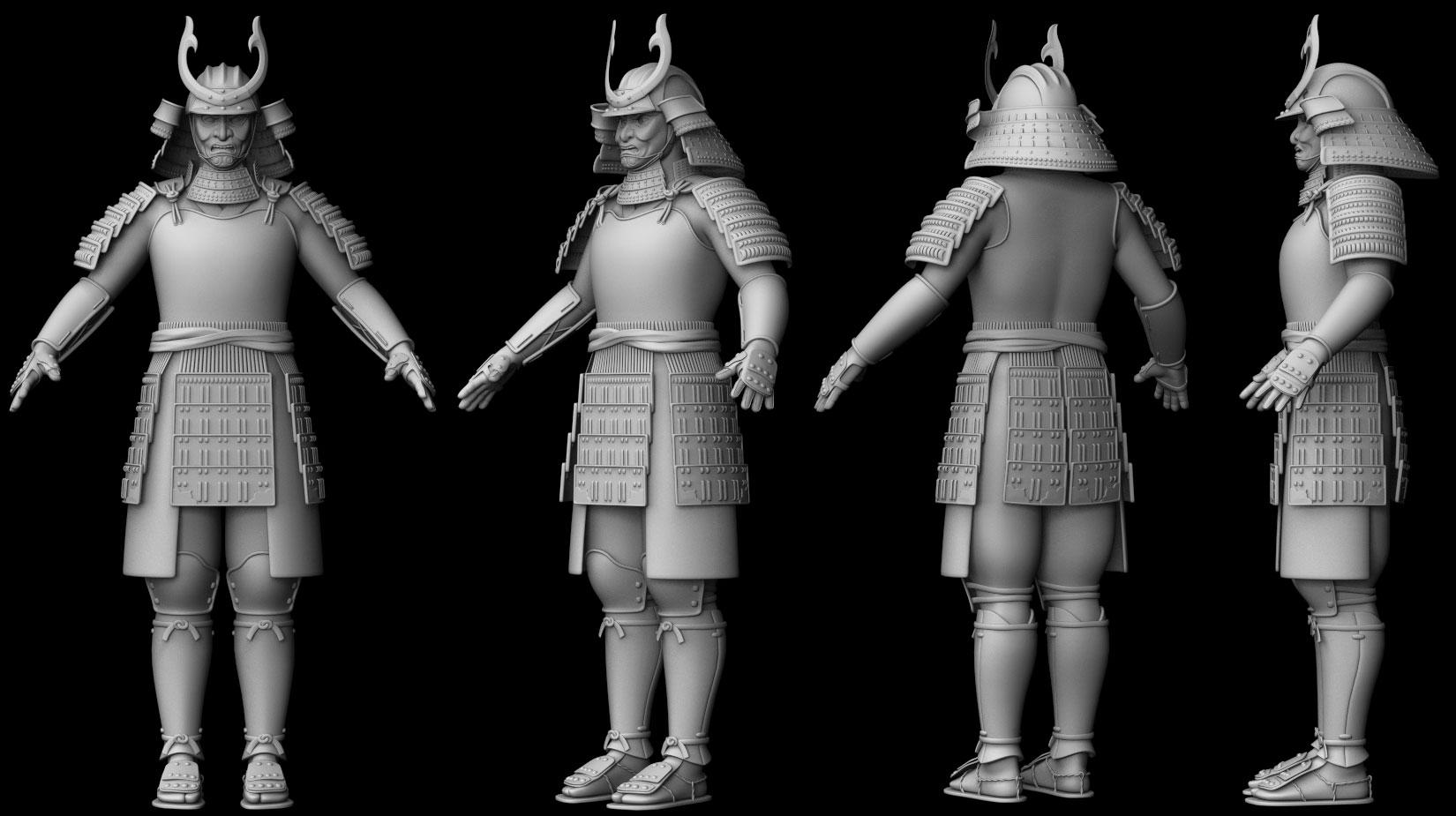 samurai wip by silesky on deviantart