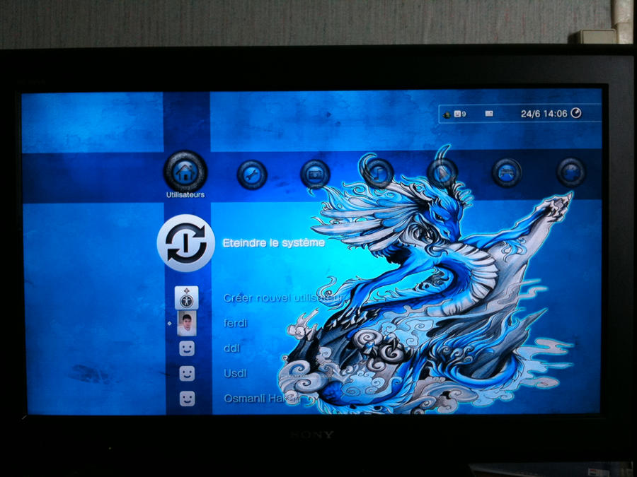 """[Galerie] Vos creations """"Themes PS3"""" Ps3_theme_Amazing_Blue_by_megaman95"""