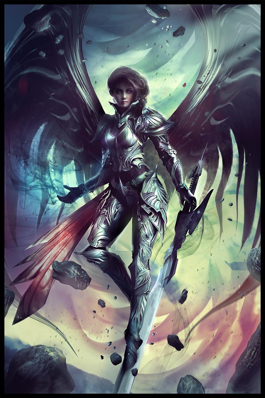 ARCHON: Vesudah, Archangel of the Infinite by JLarenART