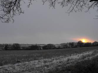Snow at Sun set