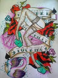 Fishnet rockabilly stockings by PsYcHoGrEenMoNsTeR