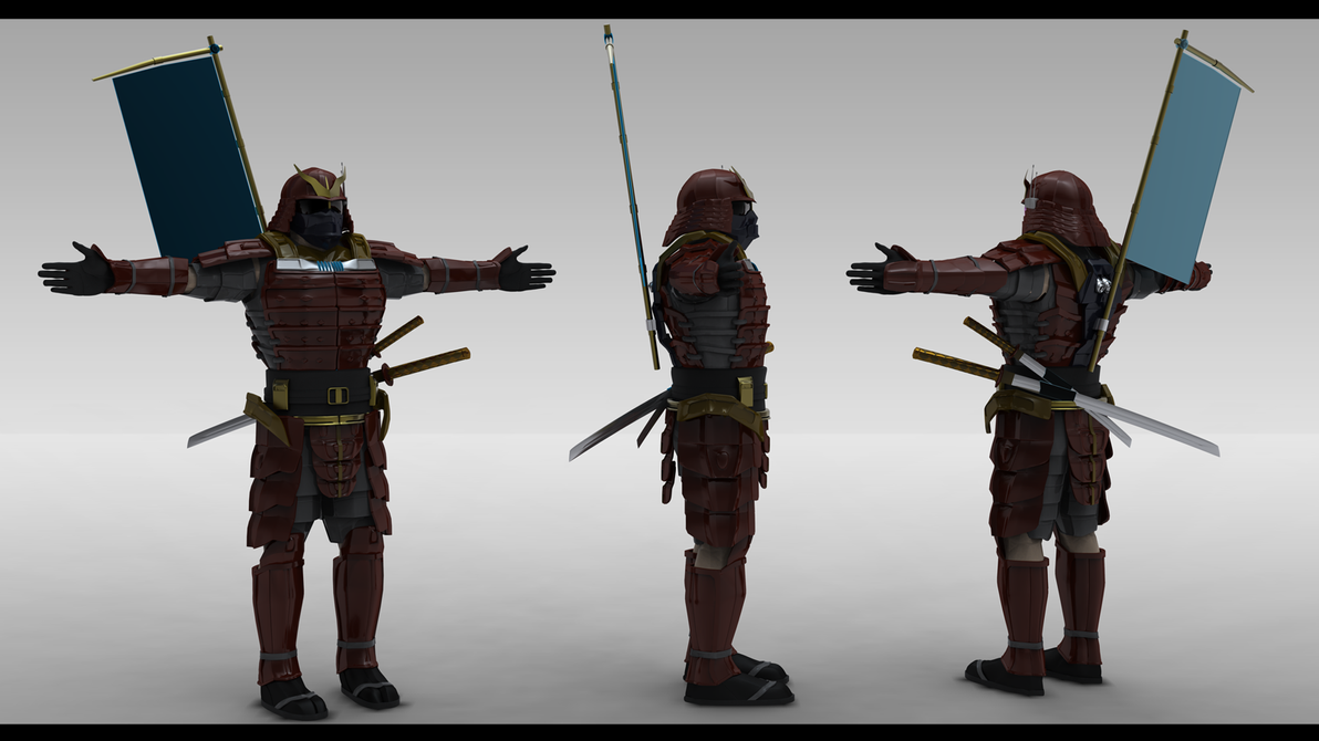 samurai model by axoll on deviantart