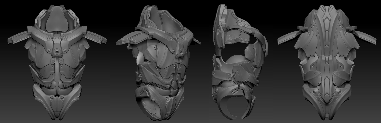 Futuristic Armour Body WIP by Axoll on DeviantArt