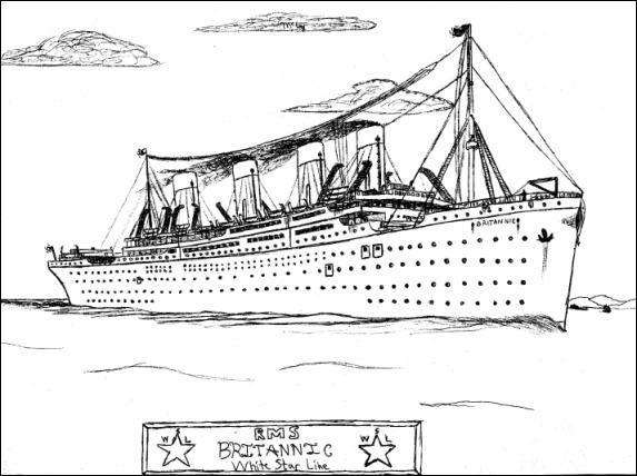 britanic kleurplaat titanic ausmalbilder animaatjes de