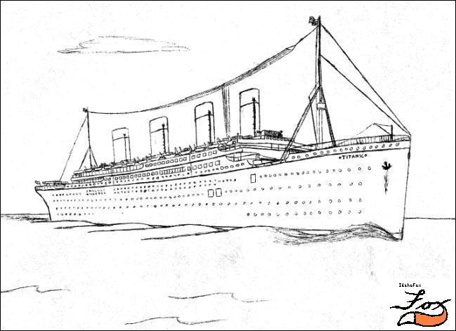 Титаник картинки корабля раскраски