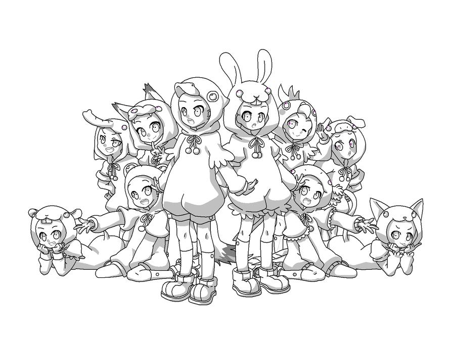 Cute Animal Anime Drawing
