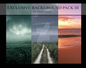 EXCLUSIVE BACKGROUND III