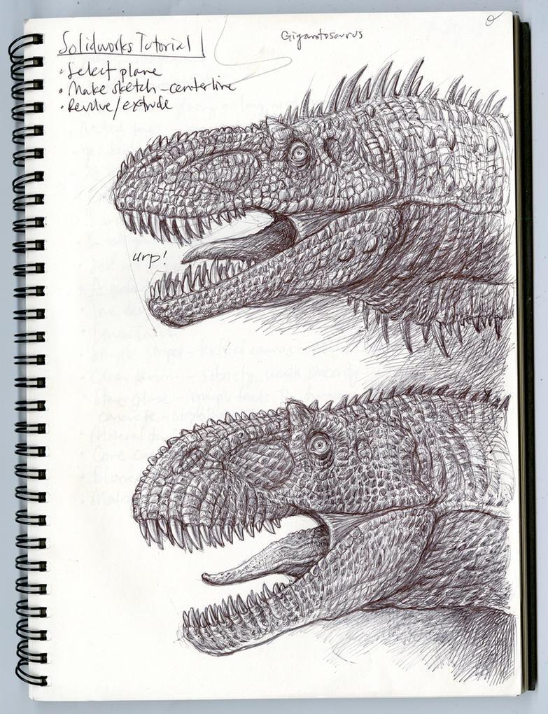 Giganotosaurus and Acrocanthosaurus Profiles by Tolousse59