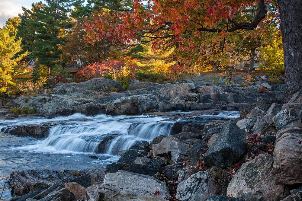 Autumn at Bala Falls by JamesHackland