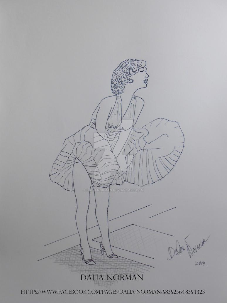 Marilyn Monroe by DaliaNorman