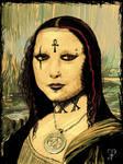 Gothic Mona Lisa by VampirGoth