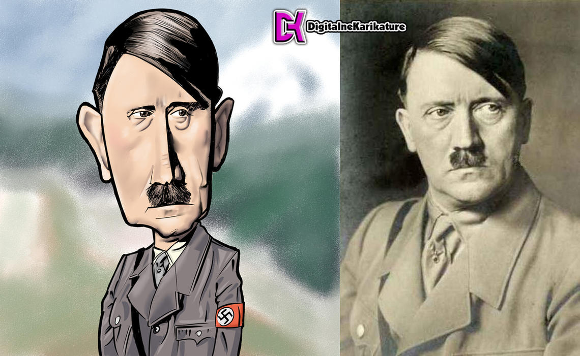 Adolf Hitler Caricature color by VampirGoth