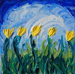 Lemon Yellow Tulips by davepuls