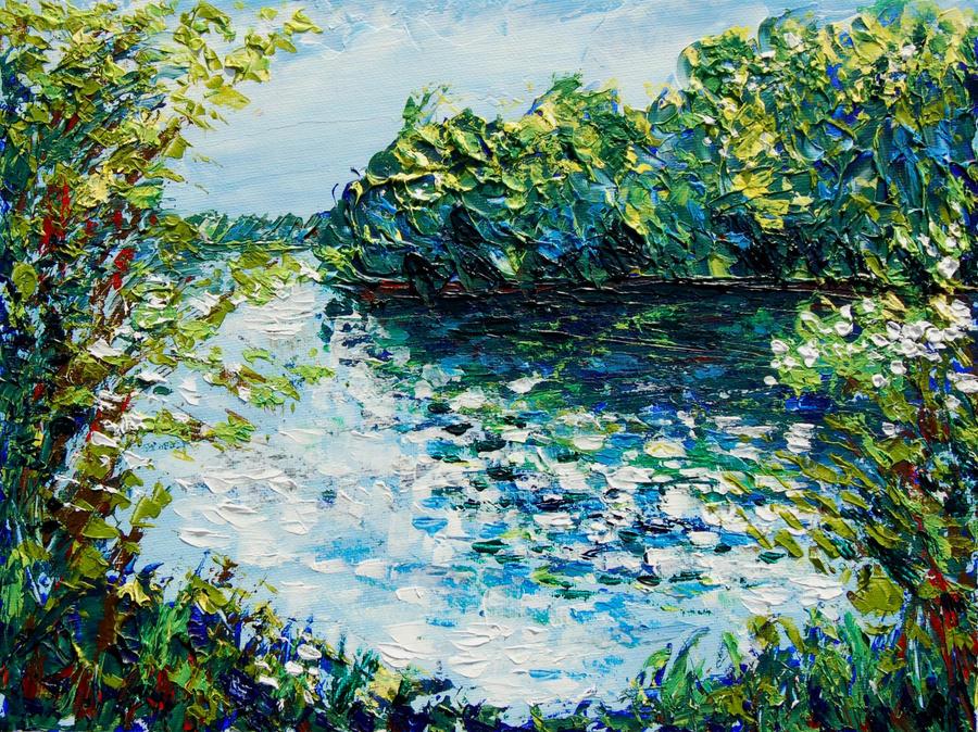 Attenborough lake reflections by davepuls