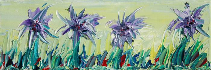 Four Purple Flowers by davepuls