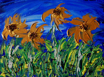 Golden Flowers by davepuls
