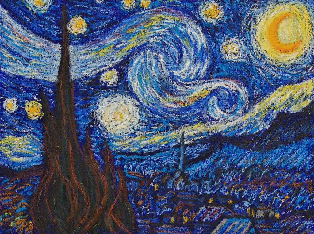 Starry Night Blue Paint