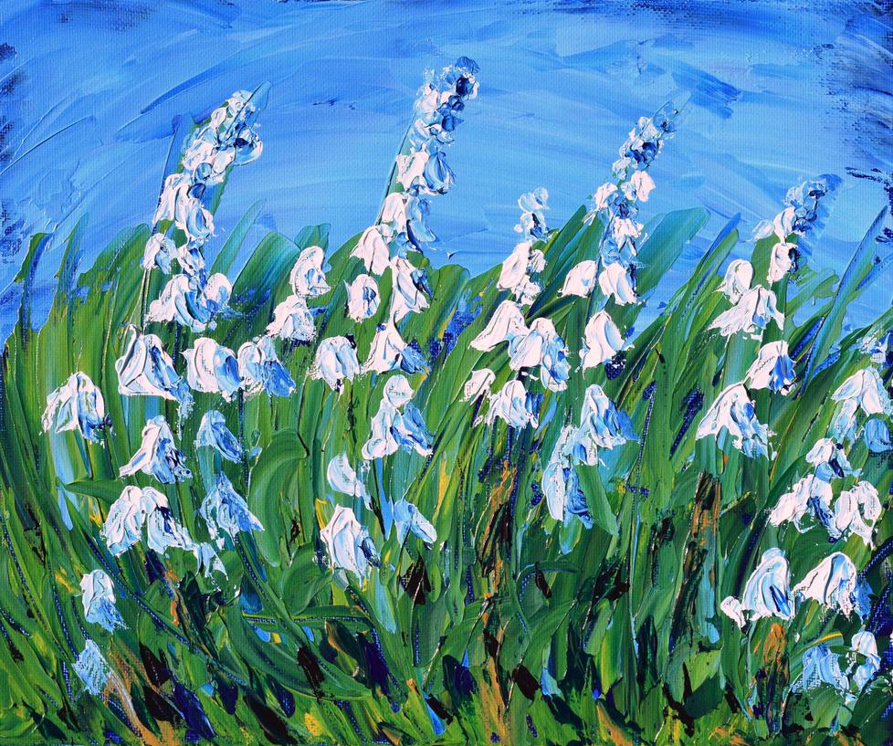 Bluebells in my Garden by davepuls