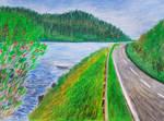 Loch at Melfort Pass by davepuls