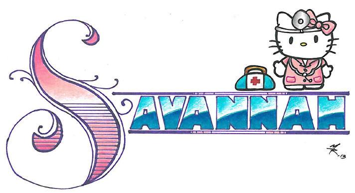 Christmas Present Drawings.Savannah Name Drawing Christmas Present 2013 2 By Oafie79