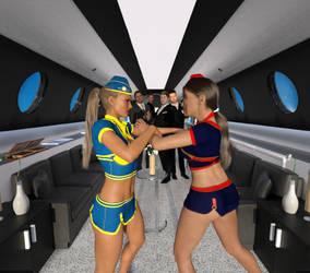 Catfight At 38,000 Feet by girlsversusgirls