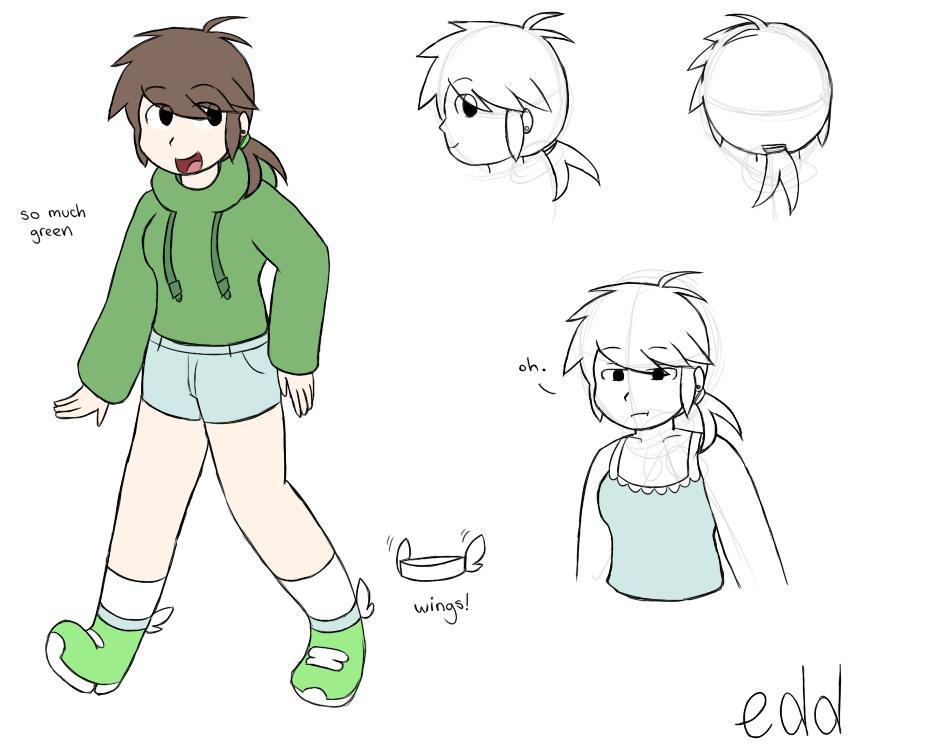 how to draw edd from eddsworld