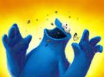 Cookie monster -wallpaper-