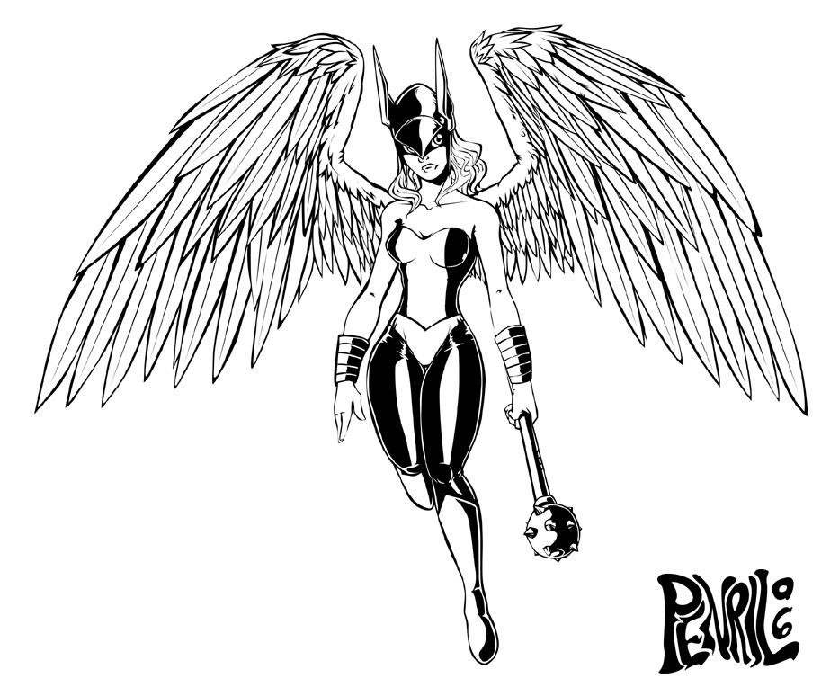 Betos Jam Hawkgirl Lines By Penril On Deviantart