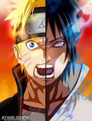 Sasuke Uchiha vs. Naruto Uzumaki by Ayame-Senpai