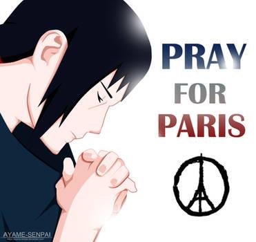 Itachi Pray for Paris by Ayame-Senpai