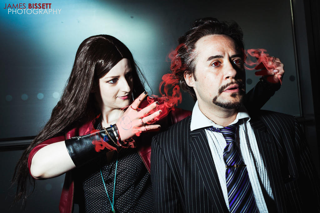 Tony Stark  Scarlet Witch MCMM 2015 JB by PC-IchabodCrane