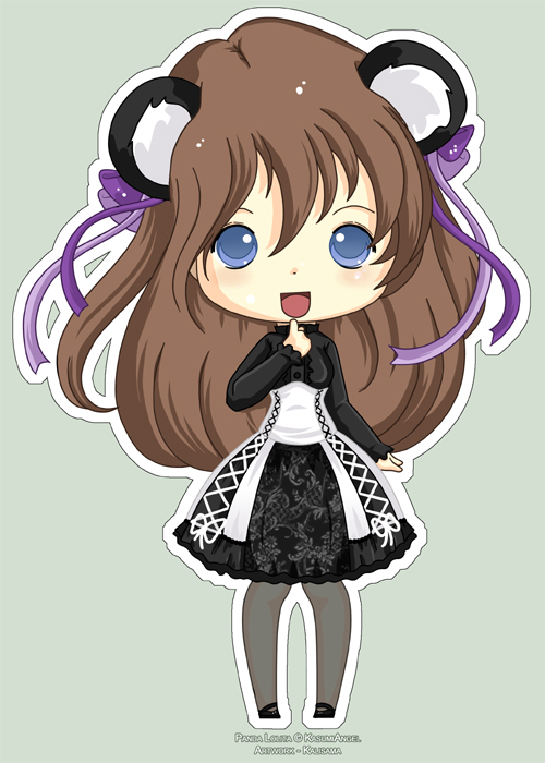 Chibi Panda Lolita KasumiAngle by Kalisama on DeviantArt