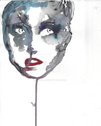 drew in water color