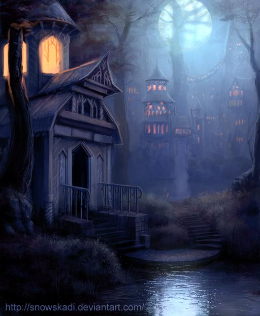 http://fc08.deviantart.net/fs19/f/2007/280/1/9/Elven_Town____night_version_by_SnowSkadi.jpg