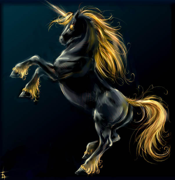Black unicorn by SnowSkadi on DeviantArt