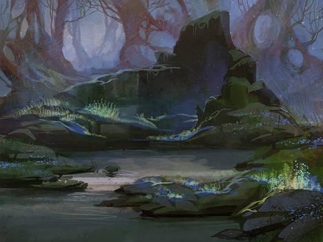 Blooming swamp