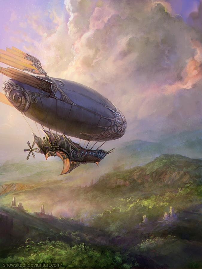 Airship by SnowSkadi