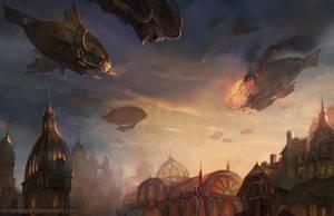 Air Battle by SnowSkadi